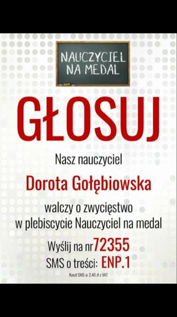 Nauczyciel na medal Dorota Gołębiowska