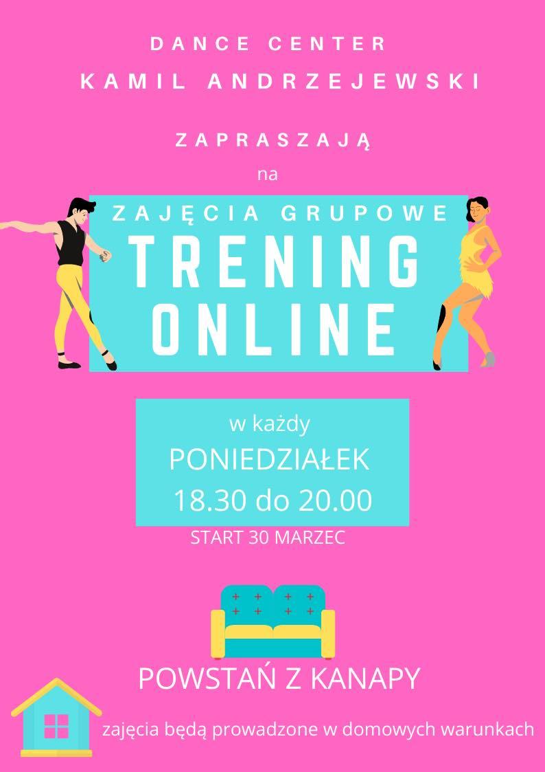 Taniec online. Kamil Andrzejewski. Zajęcia grupowe